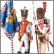 Standard bearers, 6th Napoli line infantry regt, 1812
