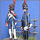 Staff officer and private, Guard foot artillery, 1812