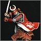 Samurai in full armor