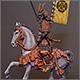 Mounted samurai, Oda clan, XVI-XVII cent.