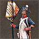 Senior sergeant eagle bearer, 4th line infantry, France 1805