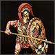 Greek hoplite, 5th B.C.