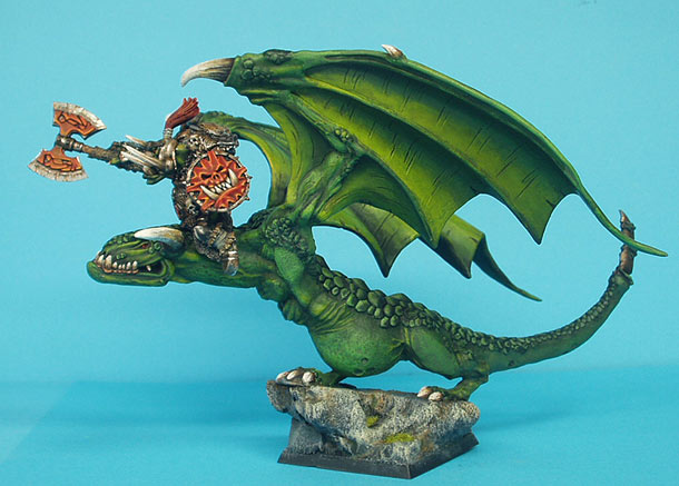 Miscellaneous: Orc Warboss on the wyvern