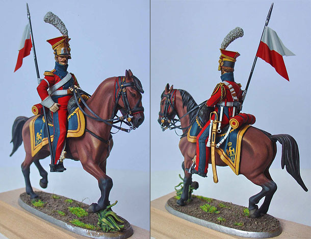 Figures: Chevauxleger, 2nd regiment of the Emperor's Guard, 1812