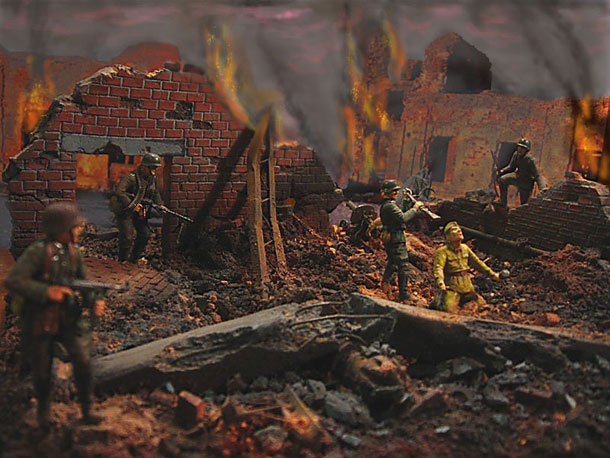 Dioramas and Vignettes: The feat of the soldier