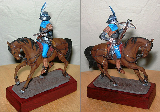Figures: Mounted Swiss arbalester