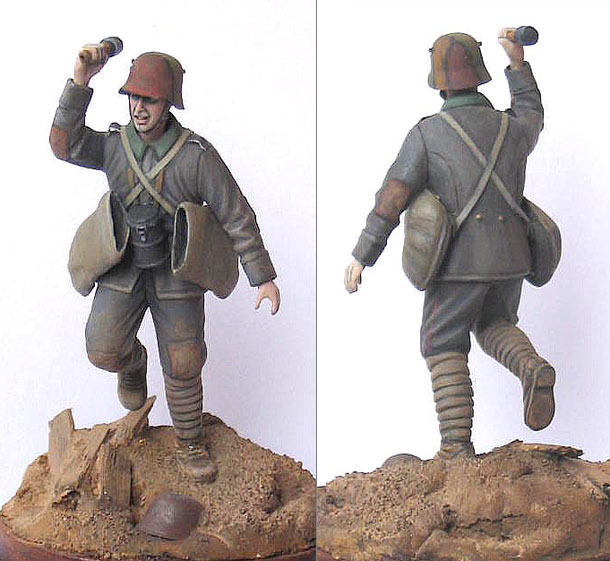 Figures: German storm trooper, 1916-17