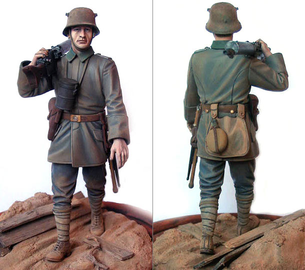 Figures: German machine gunner, WWI