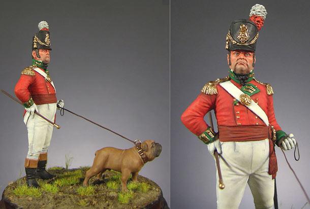 Figures: Officer, heavy infantry regt., England 1809