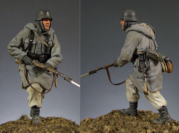 Figures: German soldier (Kharkov, 1943)