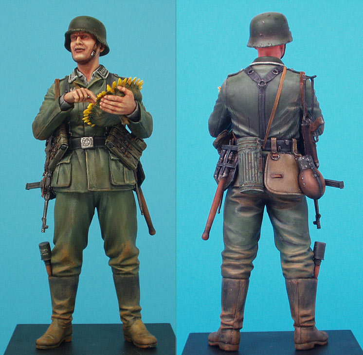 Figures: German soldier with sunflower, photo #4