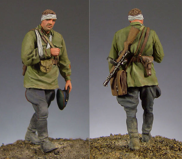 Figures: Soviet frontier guards officer, summer 1941