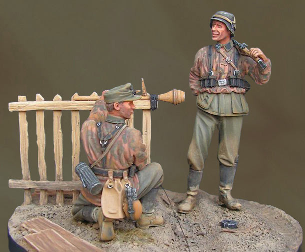 Dioramas and Vignettes: Let's hit the Russian tanks, Franz!