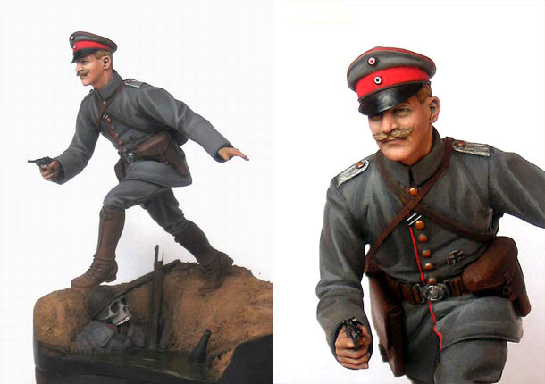 Figures: Prussian officer, WWI