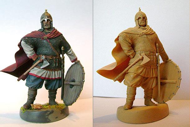 Sculpture: Russian warrior, X century