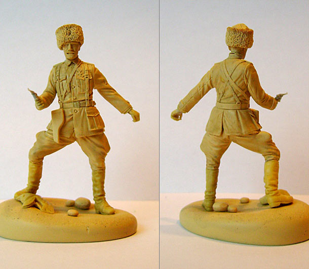 Sculpture: Kappel's Army officer, Civil war in Russia, 1921