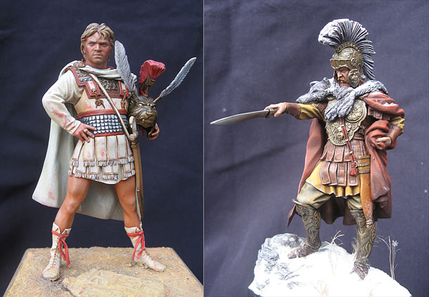 Figures: Alexander the Great and Gannibal's army warlord