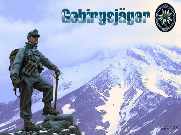Figures: German gebirgsjaeger, Caucasus, 1942
