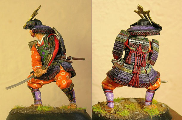Figures: Samurai with sword