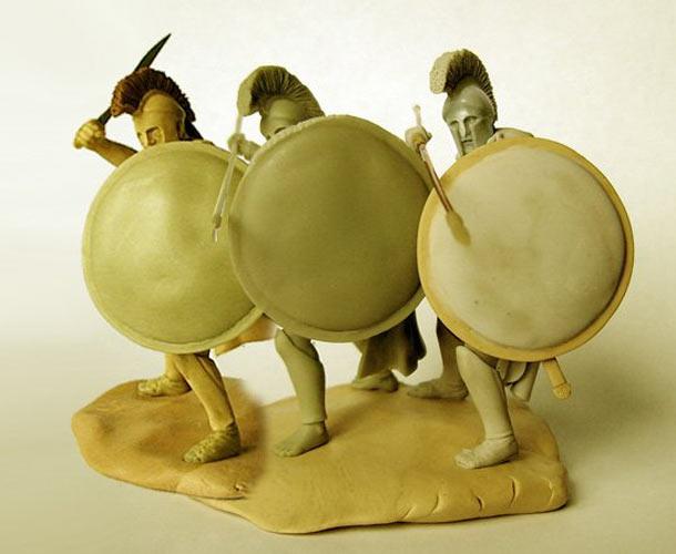 Sculpture: Spartan hoplites