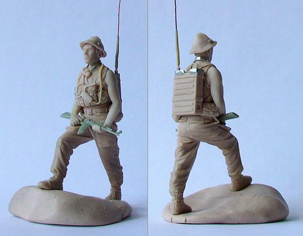 Sculpture: Soviet radio operator, Afghanistan