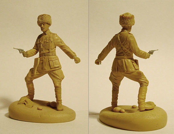 Sculpture: White army officer, Russian civil war