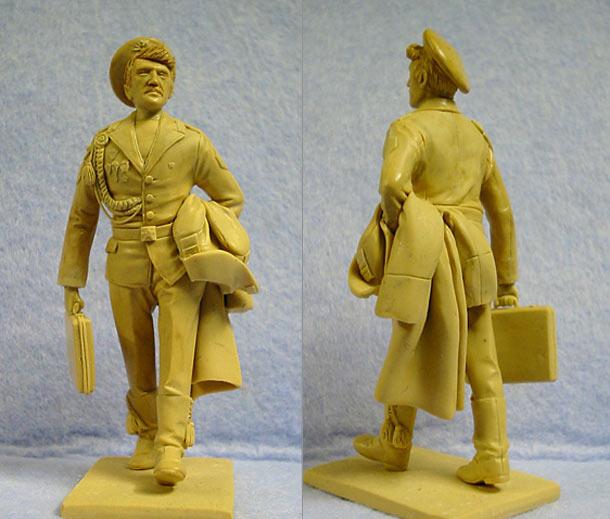 Sculpture: Soviet army demobee, late 80s