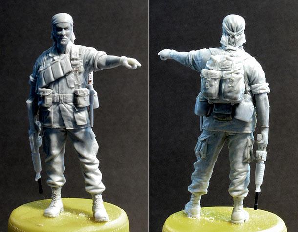 Sculpture: Staff-sgt. 25 infantry div. Vietnam`68