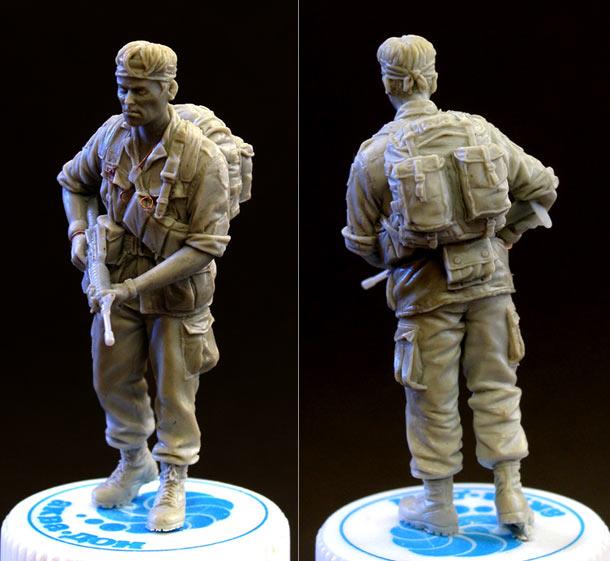 Sculpture: Sgt., 25 infantry div. Vietnam`68