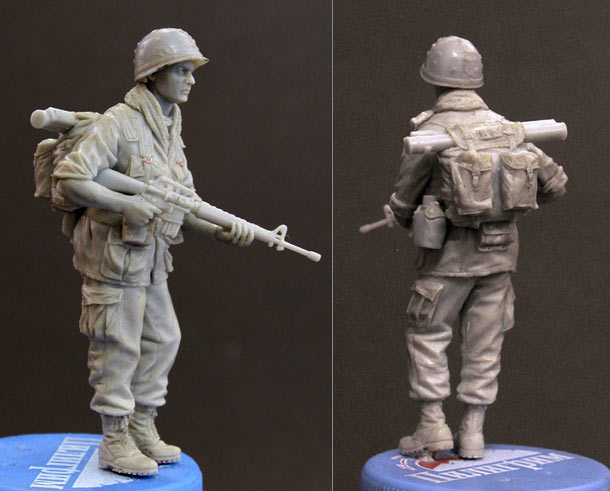 Sculpture: Private, 25 infantry div. Vietnam`68