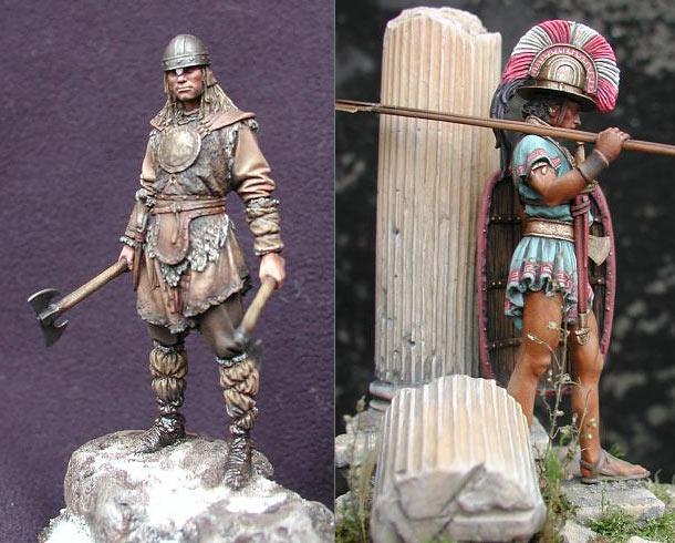 Figures: Saxon and Italic warriors