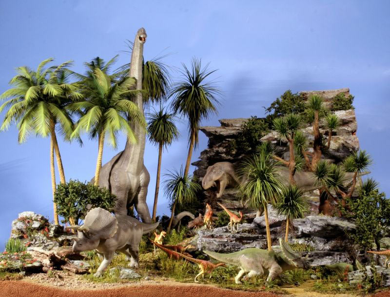 Dioramas and Vignettes:  Bank Holiday. Late Cretaceous., photo #1