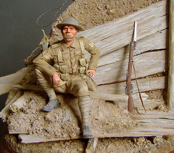 Dioramas and Vignettes: British soldier, 1916