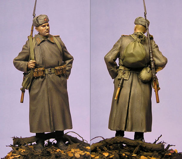 Figures: Red Army soldier, winter 1943-45