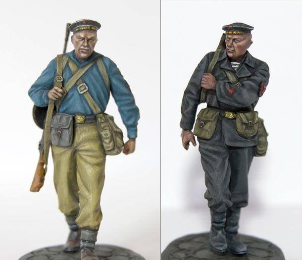 Figures: Soviet naval infantry