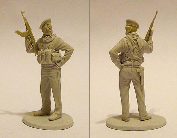 Sculpture: Palestinian militant