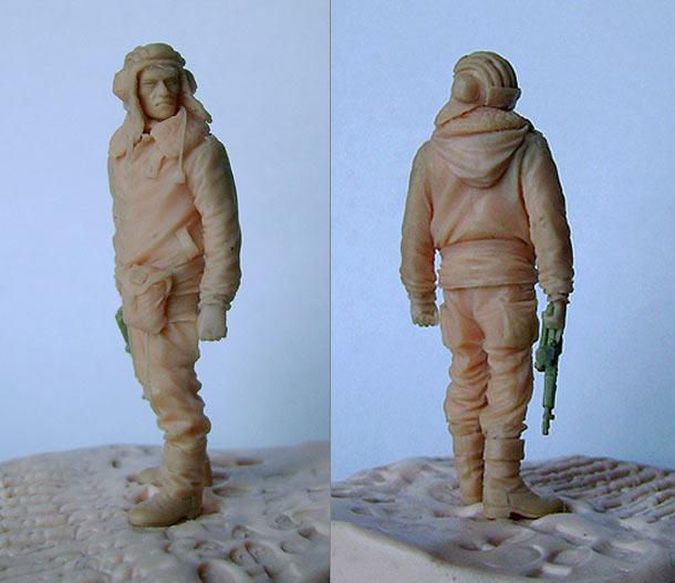 Sculpture: Lieutenant, Soviet army