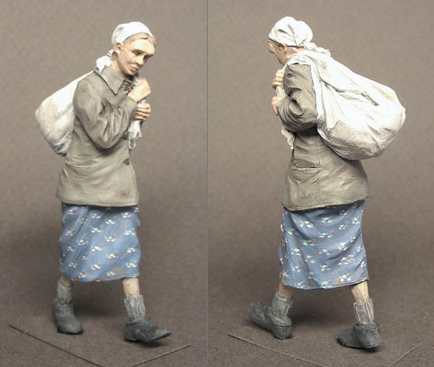 Figures: Russian refugee, WWII