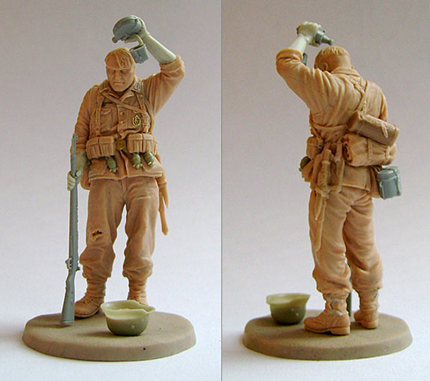 Sculpture: Tired German soldier