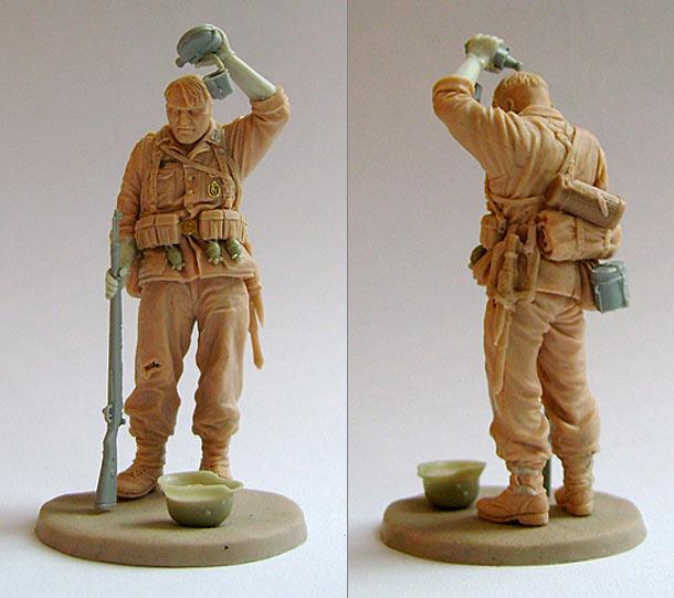 Sculpture: Tired German soldier