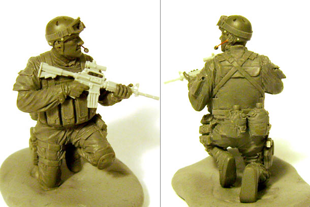 Sculpture: Delta Force trooper, Somalia, 1993