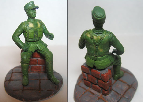 Sculpture: Wehrmacht unteroffizier