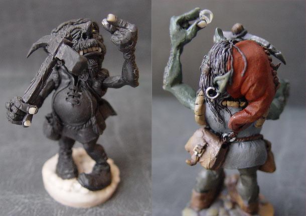 Sculpture: Suddenly grown rich goblin
