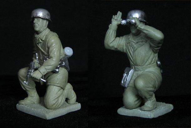 Sculpture: German paratroopers, WWII