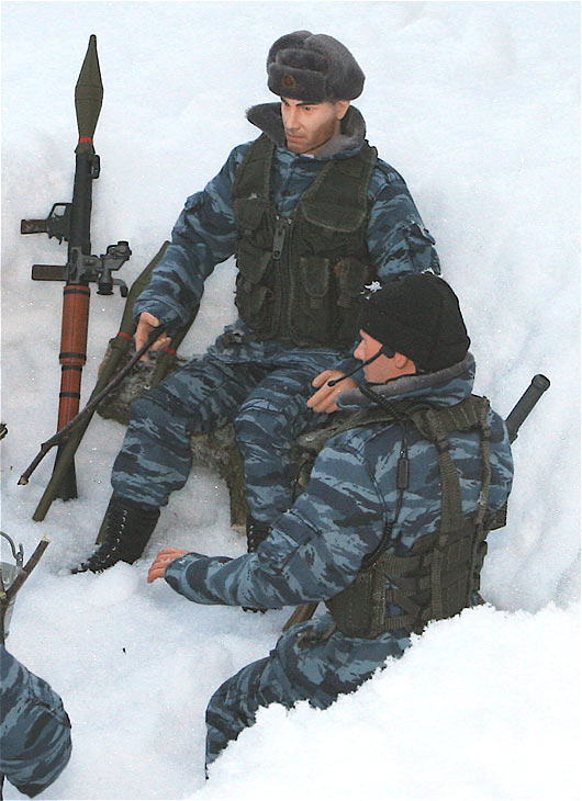 Miscellaneous: OMON troops, Chechnya, 2002, photo #4