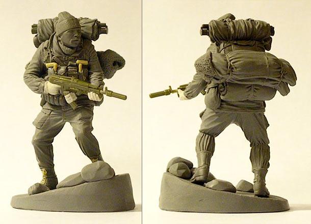 Sculpture: Sudden fight