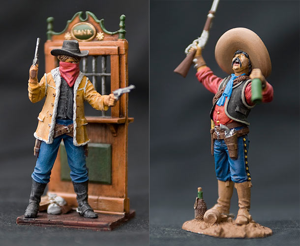 Figures: Cowboy and Mexican