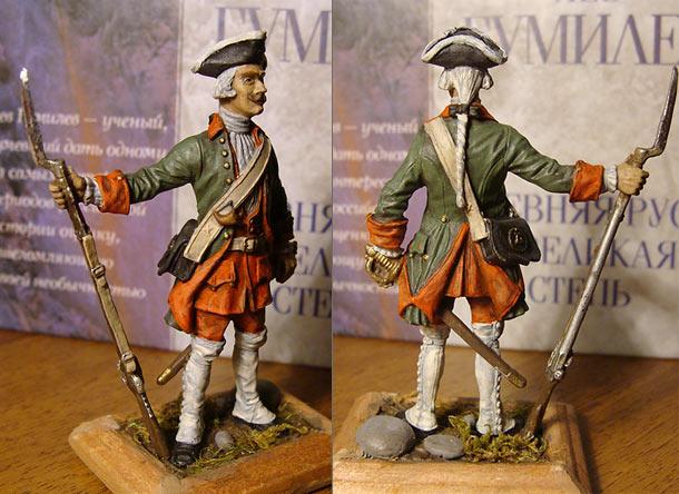 Figures: Fusilier, infantry regiment, XVII century
