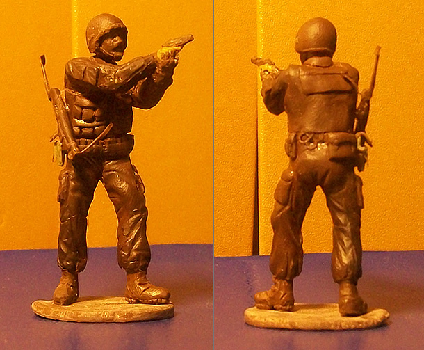 Sculpture: Russian special forces trooper