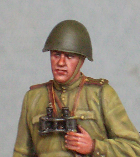 Figures: Red Army officer, summer 1943, photo #8